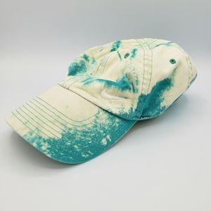 Nike blue custom bleach dyed hat